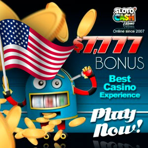 $ 7777 Online Bonus. SlotoCash Casino.